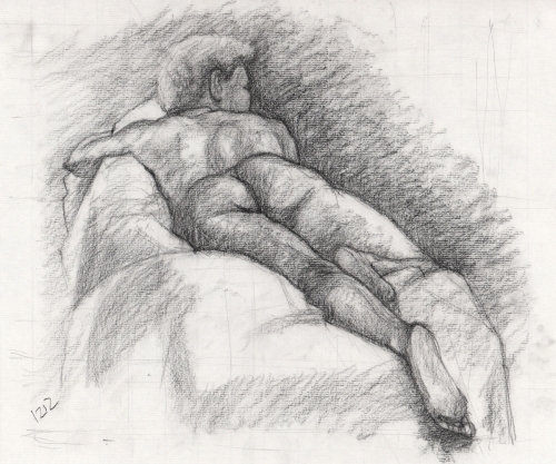 Keyona-Laying-Foreshortened-Charcoal